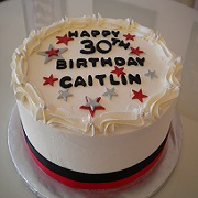 Simple Butter Cream Birthday Cake
