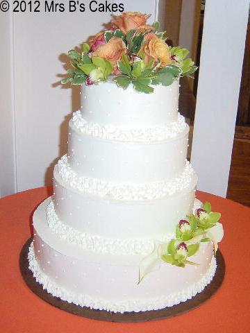 Custom Designed Wedding Cakes | Mrs B\'s Bakery Little Falls, NJ